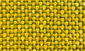 image of corn  - background of peas and corn laid by hand - JPG