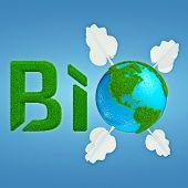 stock photo of interpreter  - Stylized interpretation of the logo Bio Planet - JPG