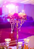 picture of marriage decoration  - Wedding table decoration - JPG
