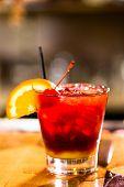 pic of sangria  - Bartender making Red Sangria in Italian restaurant - JPG