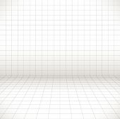image of grids  - Blank space with perspective grid wire frame - JPG
