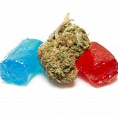image of medical marijuana  - Marijuana and Hard Candy Containing Medical Marijuana THC - JPG