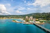 image of caribbean  - Cruise port in the tropical Caribbean island of Ocho Rios Jamaica - JPG