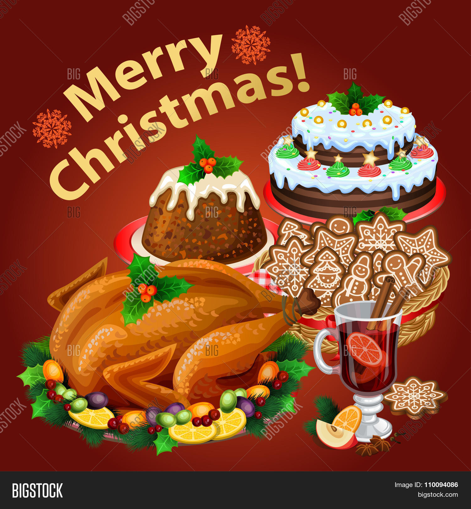 Christmas Dinner Traditional Vector Amp Photo Bigstock