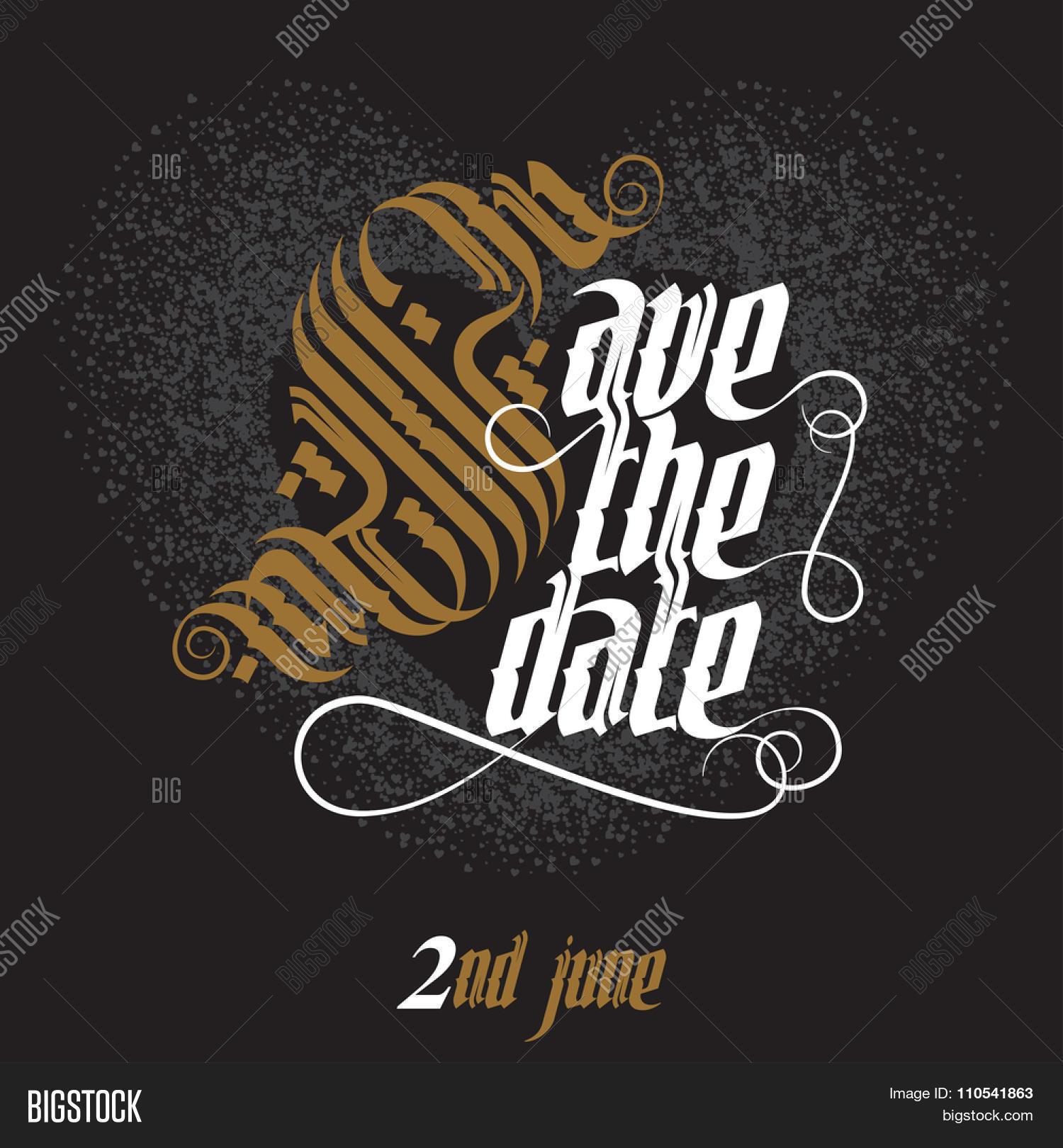 Save date wedding invitation card vector photo bigstock