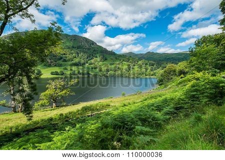 Rydal Water In The Lake District.