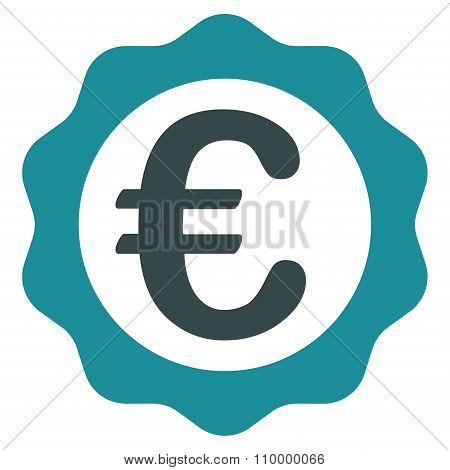 Euro Award Stamp Icon