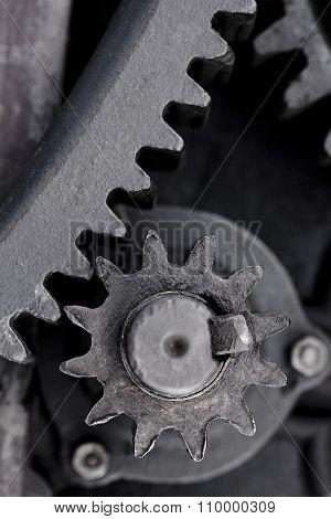 Black Steel Cogwheel