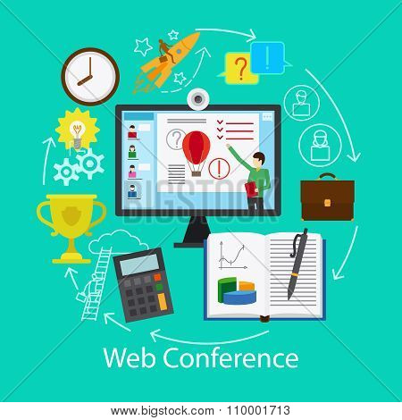 Web Conference Concept
