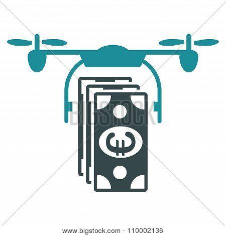 Euro Nanocopter Banking Icon