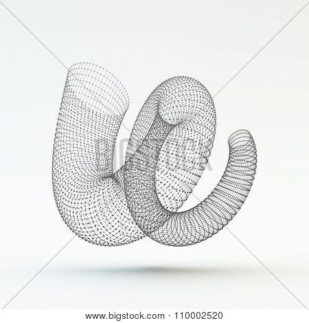 Helix. Molecular lattice. Connection structure. 3d Vector Illustration.
