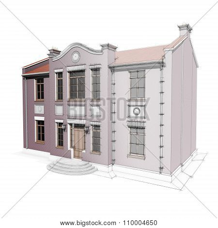 Architectural Sketch Of Private Residential