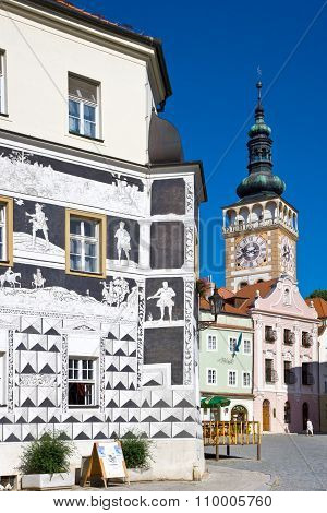 Main Square, Town Mikulov, South Moravia, Czech Republic
