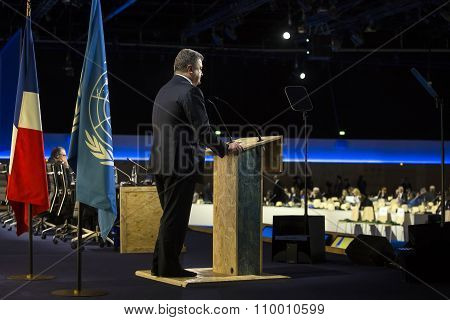 Petro Poroshenko At The Un Climate Conference In Paris