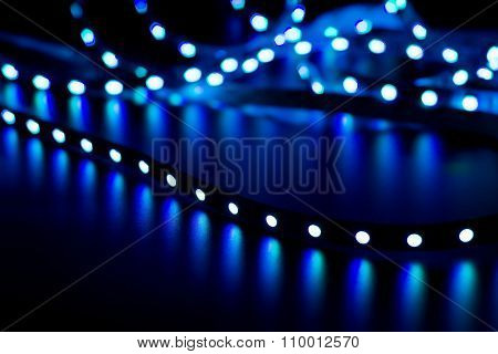 Abstract Background With Glowing Led Strip
