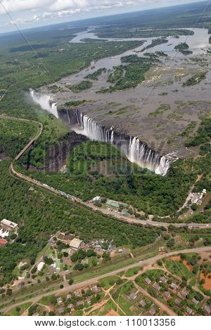 Victoria Falls in Zambia and Zimbabwe Africa