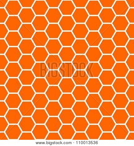 Seamless hexagons texture. Honeycomb pattern. Vector art.