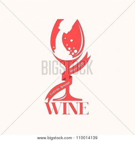 Vintage wine logo.