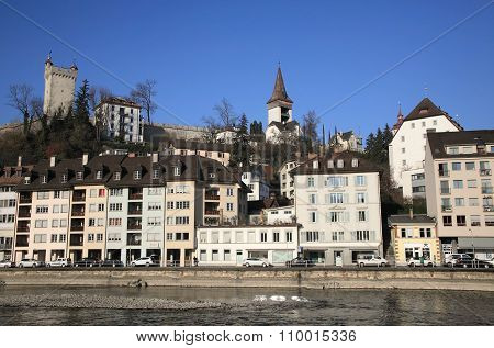 Luzern cityscape in Switzerland
