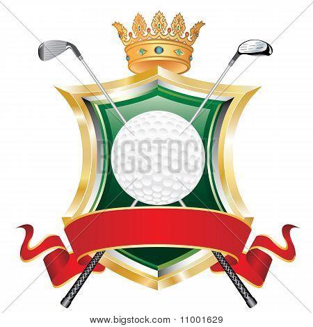Golf Red Banner