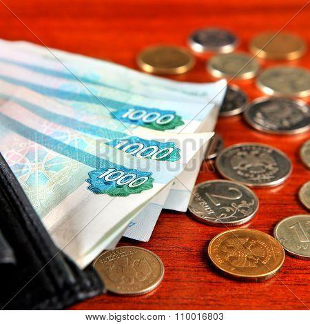 Russian Money Closeup