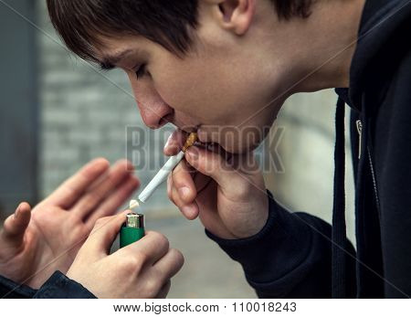 Young Man With Cigarette