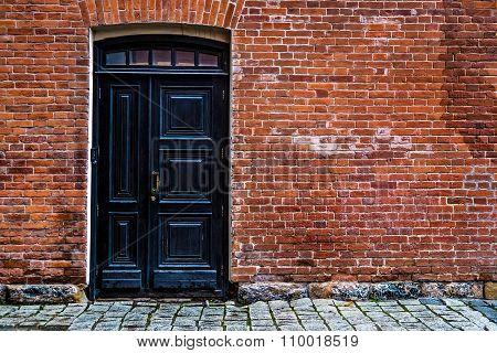 Brick Wall And The Door