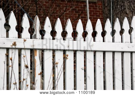 Weathered Picket Fence