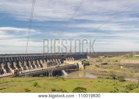 Itaipu Dam View From Brazilian Border