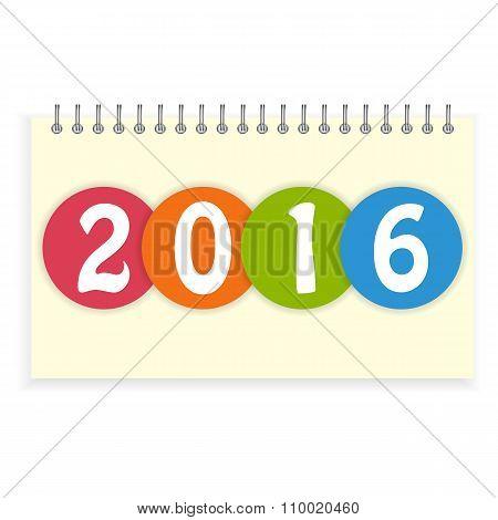 Spiral calendar 2016 cover