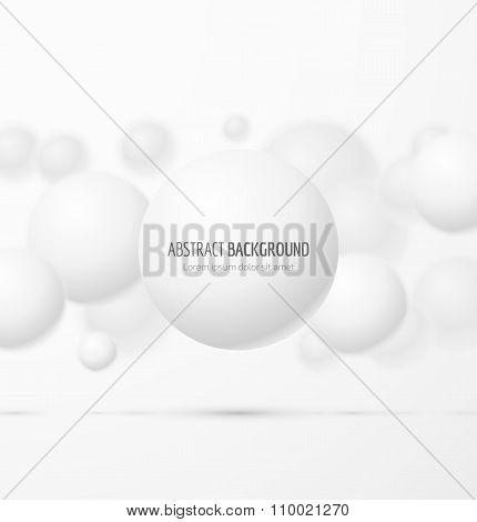 White realistic sphere