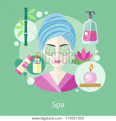 Spa Salon Concept Flat Style Design