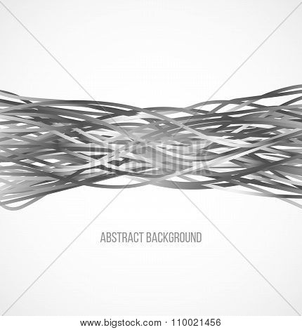 Absract gray background with horizontal lines