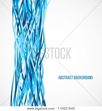 Absract blue background with vertical lines