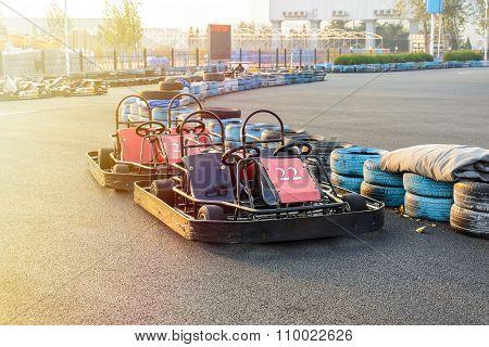 Go-kart In The Park On Karting Track