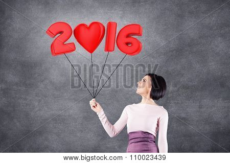 Girl With 2016 Date