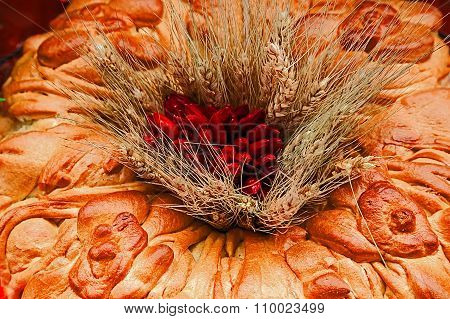 Traditional Bread And Decoration From Maramures Area, Romania