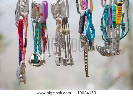 A Collection Of Climbing Gear