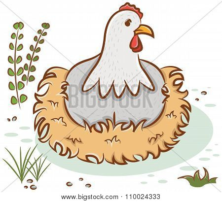 Beautiful Hen Character