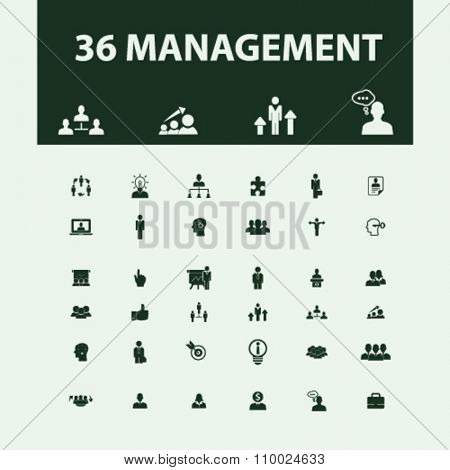 management, partners, human resources, avatar, community  icons, signs vector concept set for infographics, mobile, website, application