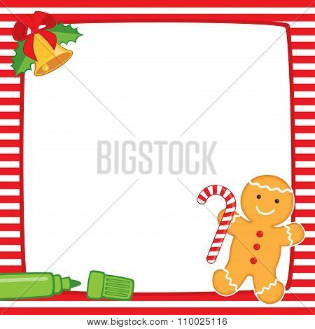 Christmas Red Square Frame Cookie