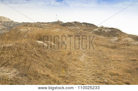 Grassy hill top