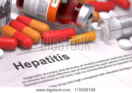 Hepatitis Diagnosis. Medical Concept.