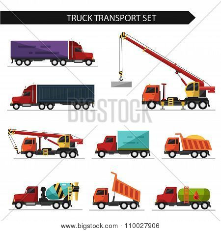 Truck and delivery transport