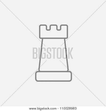 Chess line icon for web, mobile and infographics. Vector dark grey icon isolated on light grey background.