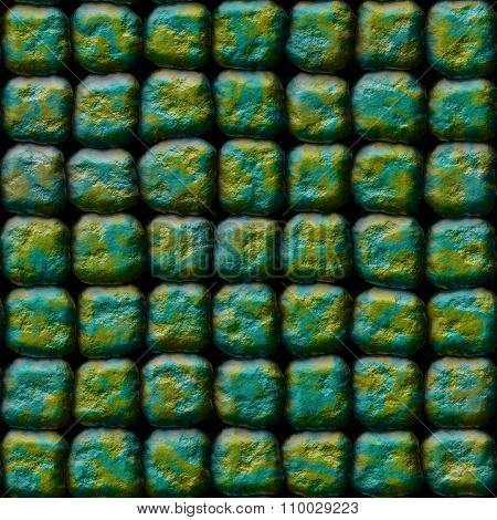 Decorative gold-blue stones of different shapes - pattern