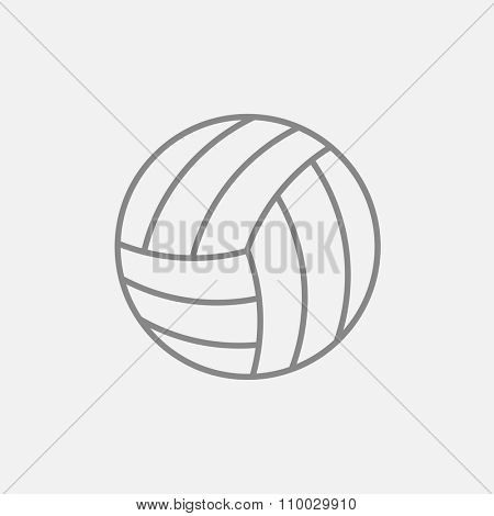 Volleyball ball line icon for web, mobile and infographics. Vector dark grey icon isolated on light grey background.