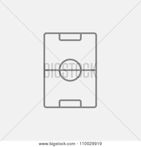 Stadium layout line icon for web, mobile and infographics. Vector dark grey icon isolated on light grey background.
