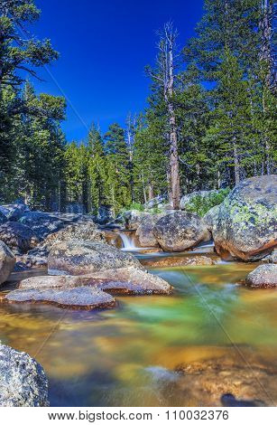 Amazing Water Streams Shot In Yosemite National Park In California. Long Shutter Speed Used.hdr Toni