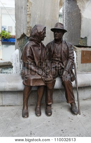 Monument to the elderly pensioners.